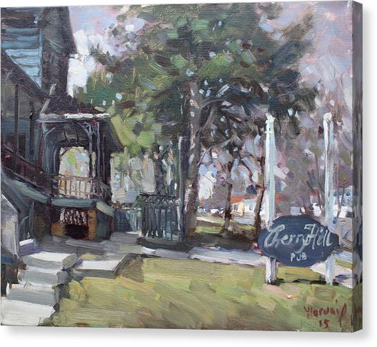 Pub Canvas Print - Cherry Hill Pub by Ylli Haruni