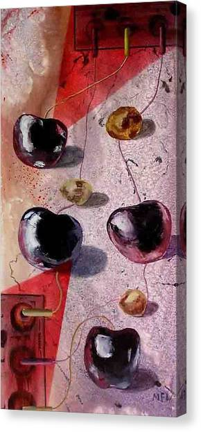 Cherry Music Canvas Print by Evguenia Men
