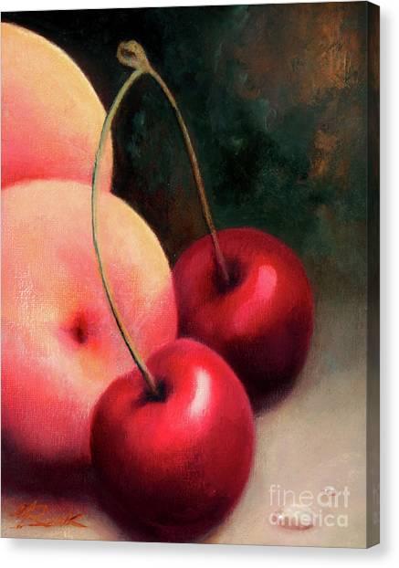 Cherry Peach Canvas Print
