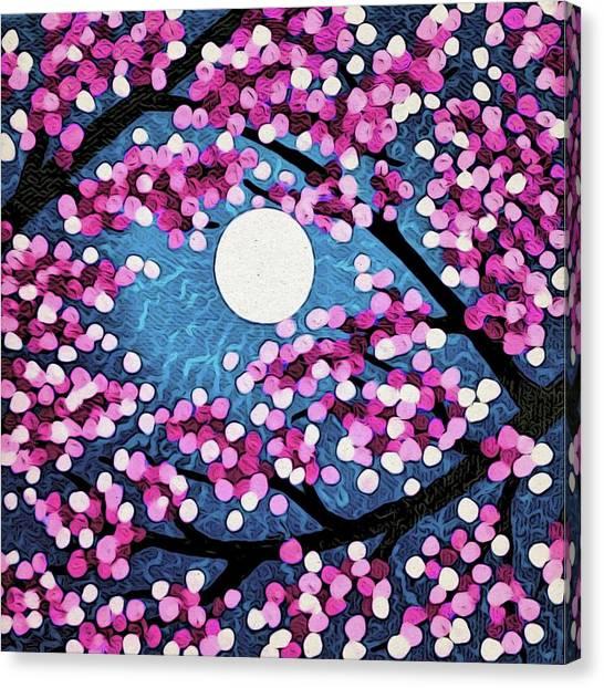 Cherry Ripple Sky Canvas Print