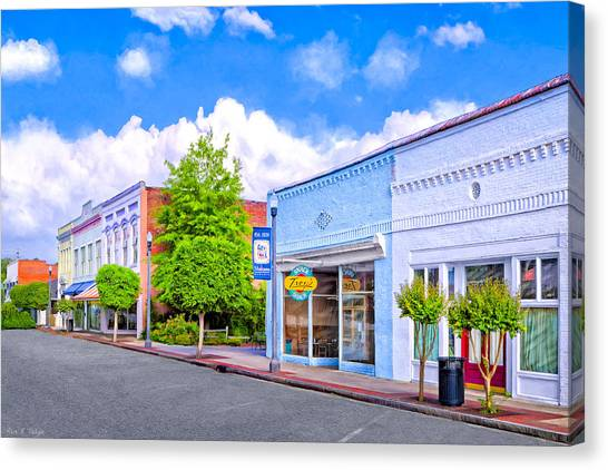 Canvas Print featuring the photograph Cherry Street Special - Montezuma Georgia by Mark E Tisdale