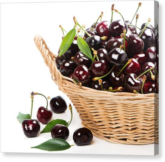 Fruit Baskets Canvas Print - Cherry by Super Lovely