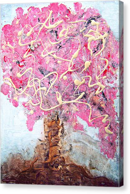 Cherry Tree By Colleen Ranney Canvas Print