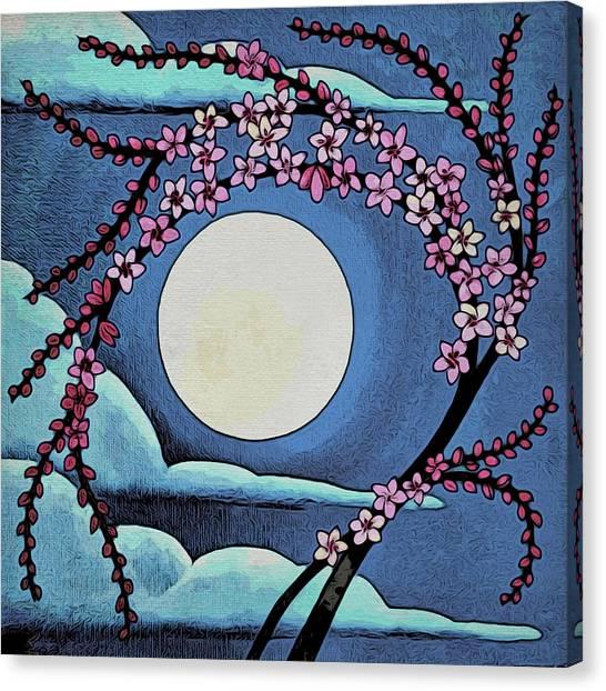 Cherry Whip Moon Canvas Print