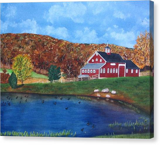 Cherrybrook Farm Canvas Print by Sharon Farber
