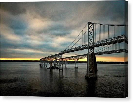 Chesapeake Bay Bridge At Twilight Canvas Print