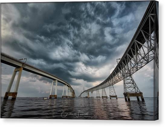 Chesapeake Bay Bridge Storm Canvas Print