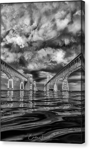 Chesapeake Bay Bw Canvas Print