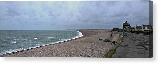 Chesil Beach November 2013 Canvas Print