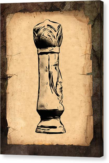 Kings Canvas Print - Chess King by Tom Mc Nemar