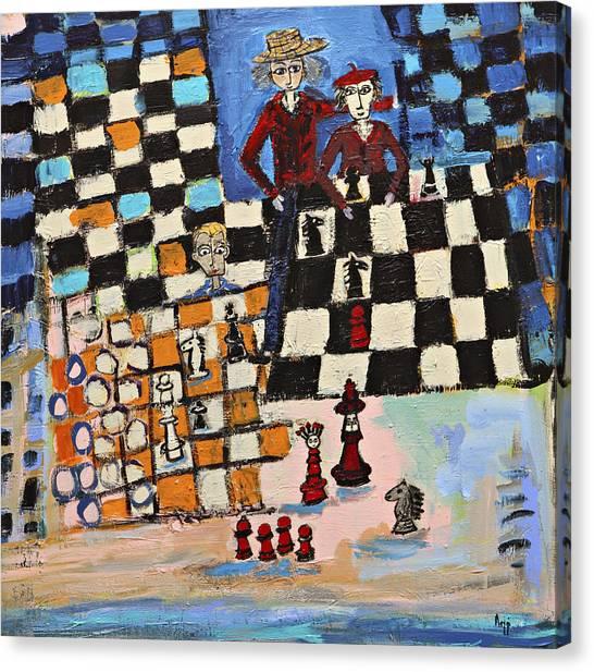 Chess Canvas Print by Maggis Art