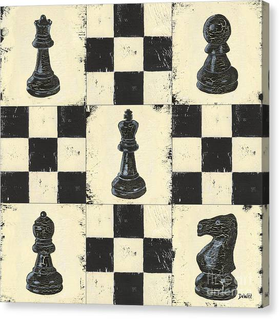 Knights Canvas Print - Chess Pieces by Debbie DeWitt