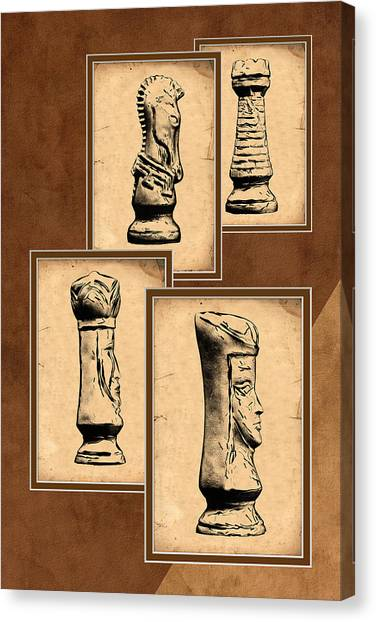 Queens Canvas Print - Chess Pieces by Tom Mc Nemar