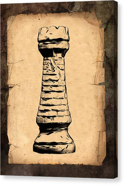 Castle Canvas Print - Chess Rook by Tom Mc Nemar
