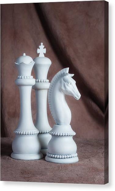 Knights Canvas Print - Chessmen Iv by Tom Mc Nemar