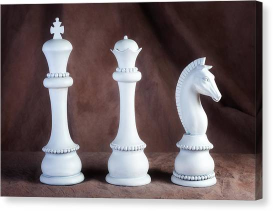 Knights Canvas Print - Chessmen V by Tom Mc Nemar