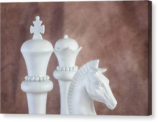 Knights Canvas Print - Chessmen Vi by Tom Mc Nemar