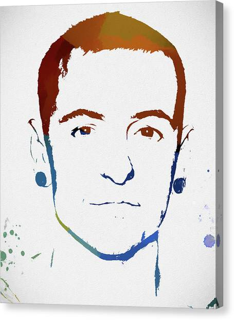 Jay Z Canvas Print - Chester Bennington Color Tribute by Dan Sproul