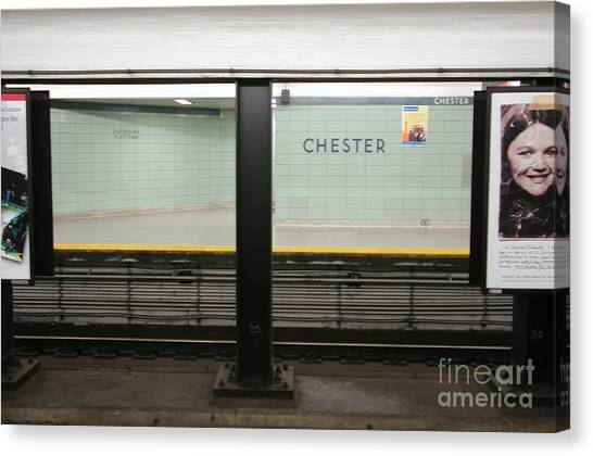 Chester Station Toronto Canvas Print