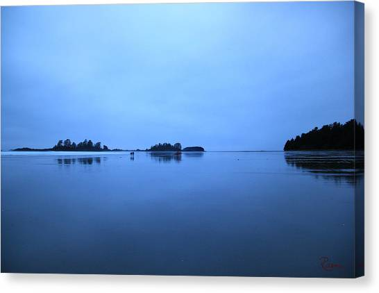Chesterman Spatial Blues Canvas Print