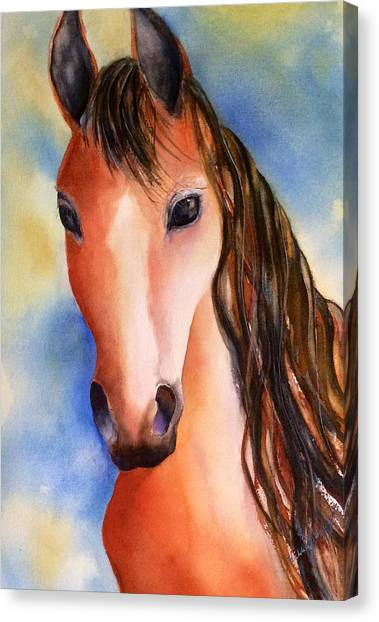 Chestnut Horse Canvas Print