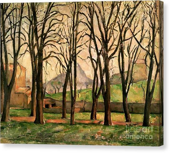 Chestnut Canvas Print - Chestnut Trees At The Jas De Bouffan by Paul Cezanne
