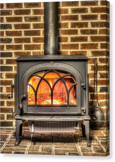 Chestnuts Roasting Canvas Print