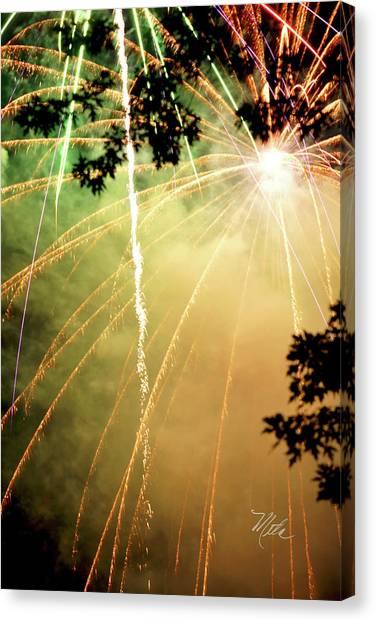 Chetola Yellow Fireworks Canvas Print