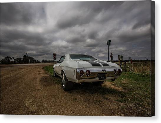 Chevelle Canvas Print - Chevelle Ss by Aaron J Groen