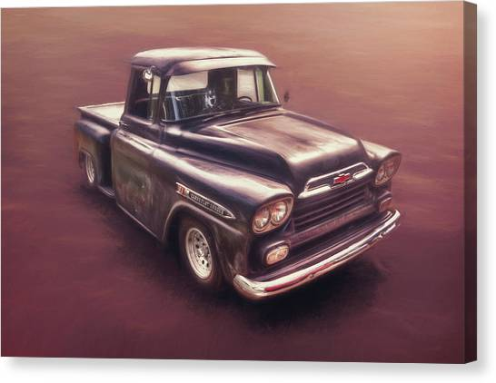 Street Rods Canvas Print - Chevrolet Apache Pickup by Scott Norris