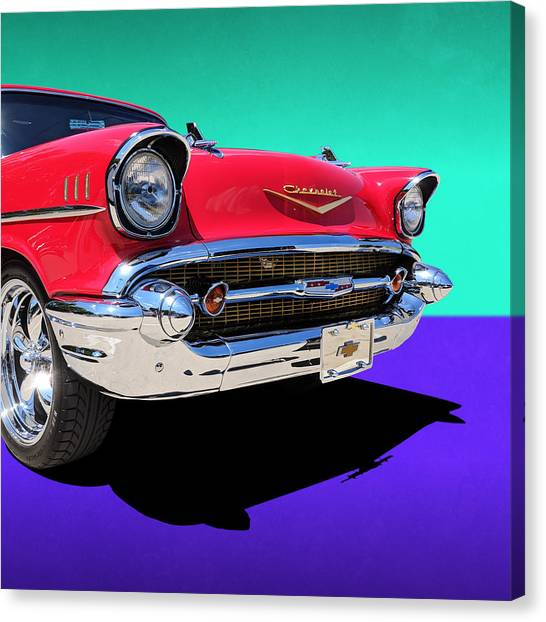 Chevrolet Bel Air Color Pop Canvas Print