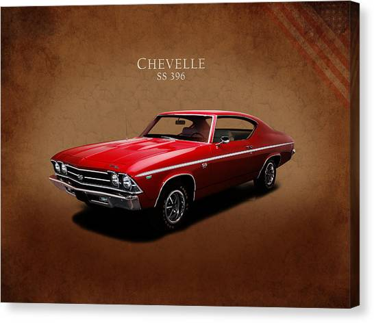 Chevelle Canvas Print - Chevrolet Chevelle Ss 396 by Mark Rogan