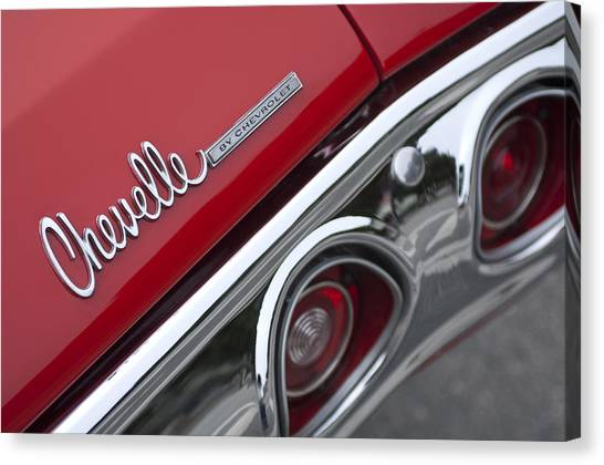 Chevelle Canvas Print - Chevrolet Chevelle Ss Taillight Emblem 2 by Jill Reger