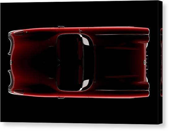 Chevrolet Corvette C1 - Top View Canvas Print