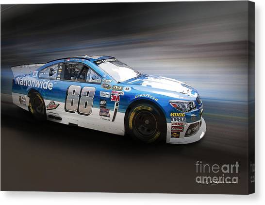 Racecar Drivers Canvas Print - Chevrolet Ss Nascar by Roger Lighterness