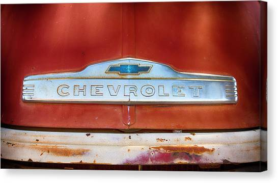 Volunteer Firefighter Canvas Print - Chevrolet  by Stephen Stookey