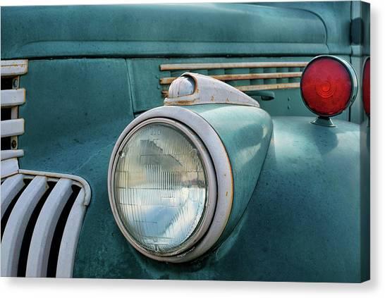 Turn Signals Canvas Print - Chevrolet Truck - Vintage - Detail 2 by Nikolyn McDonald