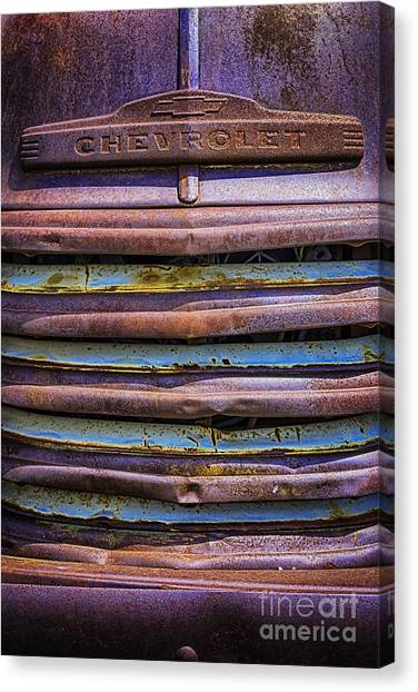 Chevy 3100 Grill Canvas Print