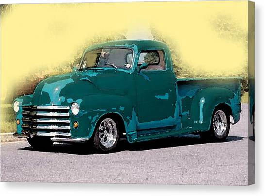 Chevy Azure Canvas Print