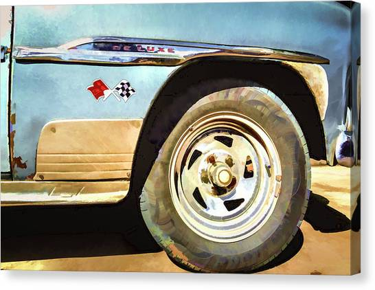 Canvas Print featuring the photograph Chevy Deluxe by Lou Novick