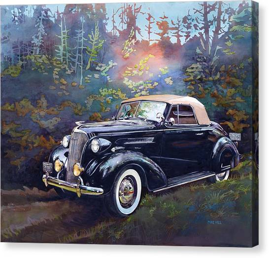 Chevy In The Woods Canvas Print by Mike Hill