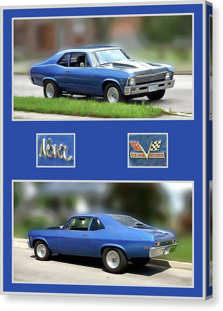 Chevy Nova Vertical  Canvas Print