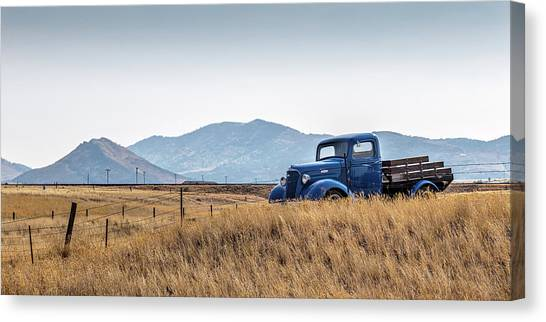 Chevrolet Pickup Canvas Print - Chevy Truck by Peter Tellone