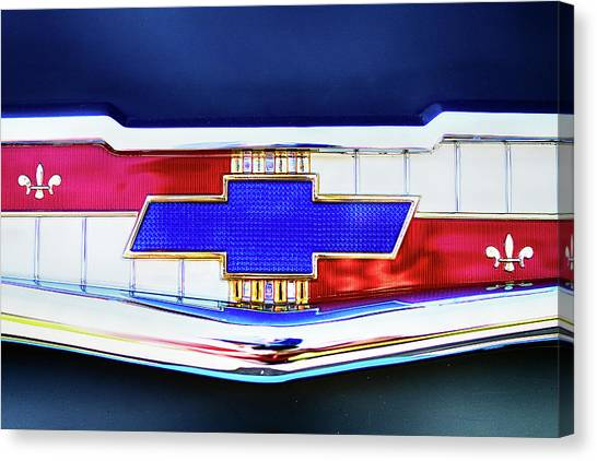 Chevy's Fifties Bowtie Canvas Print