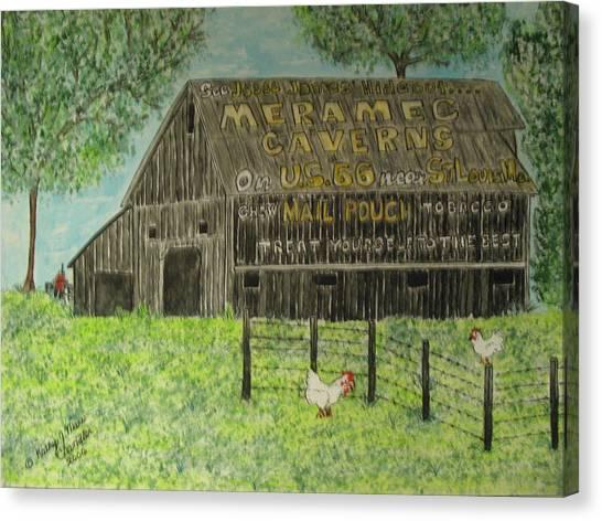 Chew Mail Pouch Barn Canvas Print