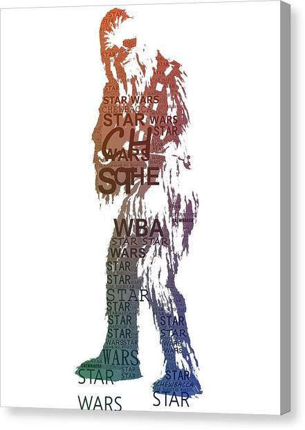 Chewbacca Canvas Print - Chewbacca Typography by Dan Sproul