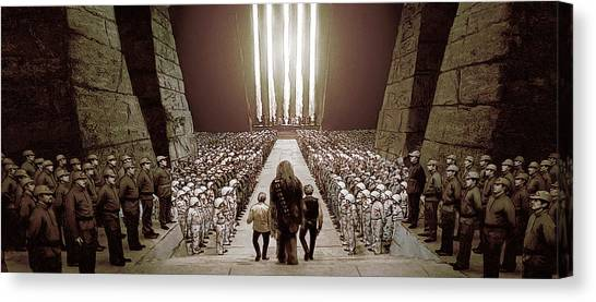 Chewbacca's March To Disappointment Canvas Print