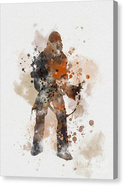 Chewbacca Canvas Print - Chewie by Rebecca Jenkins