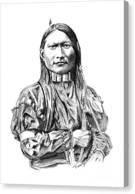 Cheyenne Man Canvas Print