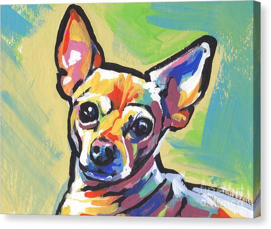 Chihuahuas Canvas Print - Chi Chi Cha by Lea S
